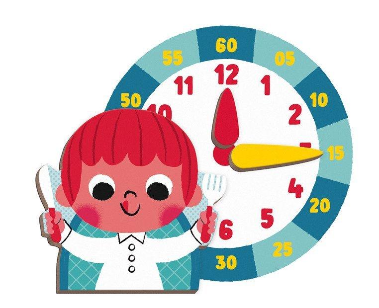 układanka magnetyczna zegar www.tuliki.pl
