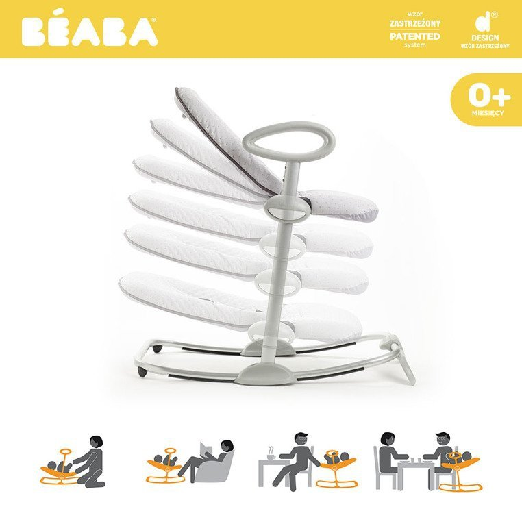 "Beaba ""Bouncer Up&Down III"" Leżaczek grey"