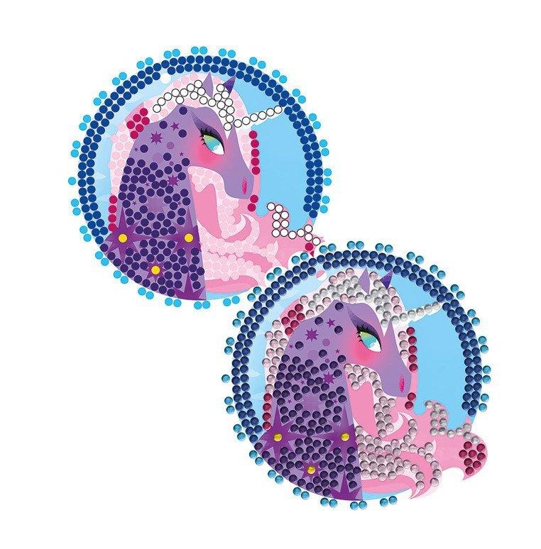 Zestaw kreatywny Cudowne kryształki Medaliony 7+, Janod - uszkodzone opakowanie