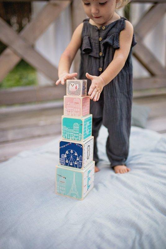 Piramida wieża drewniana Żyrafka Sophie, Janod