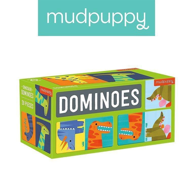 Mudpuppy Gra Domino Dinozaury 28 elementów 3-8 lat