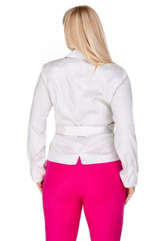 elegancka bluzka imitująca żakiet z paskiem