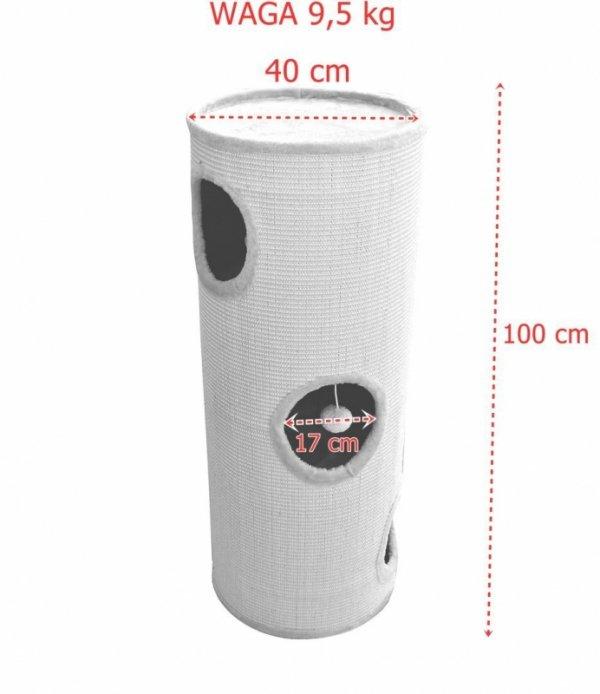 Drapak/Tuba/ Wieża/Legowisko dla Kota 100cm Beżowa