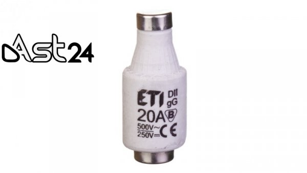 Wkładka bezpiecznikowa 20A DII gG / BiWtz 500V AC/ 250V DC E27 002312406 /5szt./