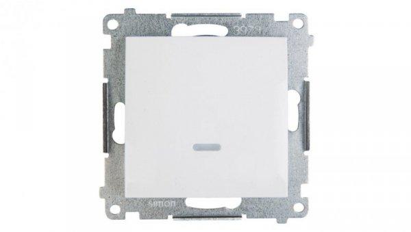 Simon 54 Przycisk pojedynczy z podświetleniem biały DP1L.01/11