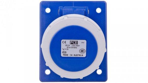 Gniazdo tablicowe skośne 16A 3P 230V /80x97/ niebieskie IP67 4132-6F8