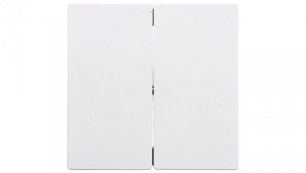 Merten System M Klawisz podwójny biały MTN432525