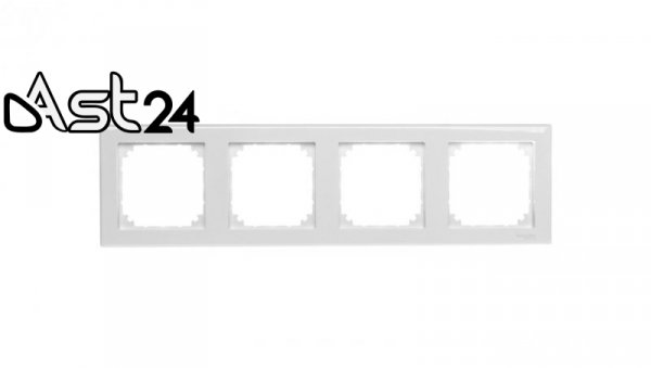 Merten M-Smart Ramka poczwórna biała MTN478425