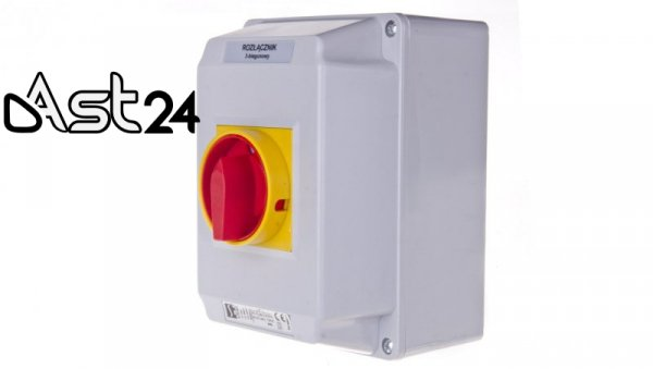 Łącznik krzywkowy 0-1 40A 3P w obudowie ŁK40-2.8211OB4ZC