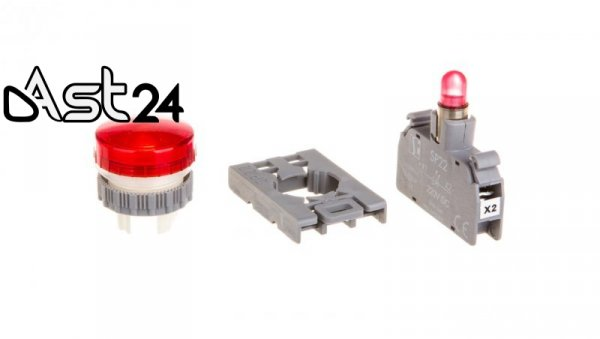 Lampka sygnalizacyjna 22mm czerwona 220V DC SP22-LC-220-LED-DC