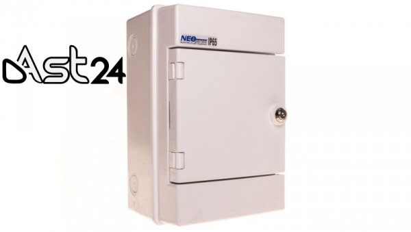 Rozdzielnica hermetyczna modułowa 1000V DC 1x4 natynkowa IP65 RH-4Z/B 36.06