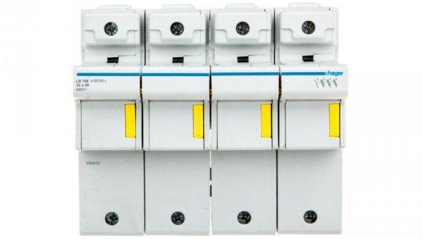 Rozłącznik bezpiecznikowy cylindryczny 4P 22x58mm LR704