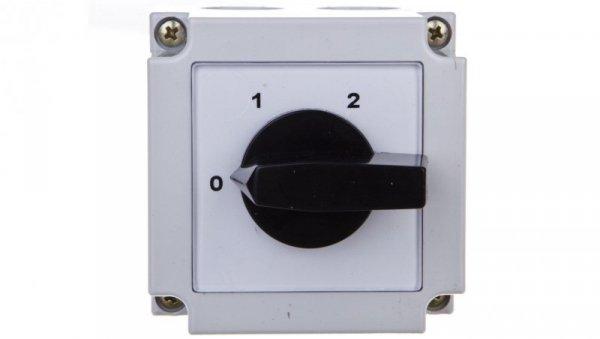 Łącznik krzywkowy 0-1-2 2P 10A w obudowie 4G10-252-PK