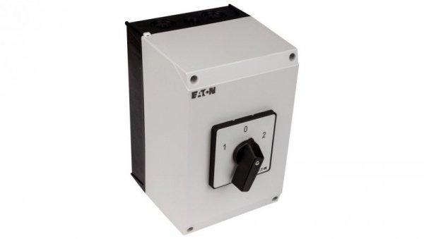 Łącznik krzywkowy 1-0-2 3P 63A w obudowie IP65 T5B-3-8212/I4 207223