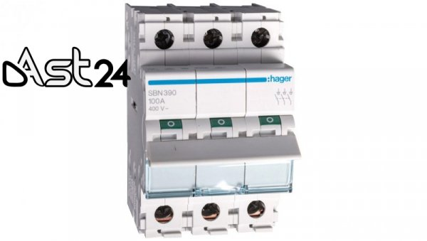 Rozłącznik modułowy 100A 3P SBN390
