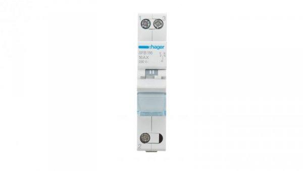 Przełącznik modułowy 1-0-2 16A 1P SFB116