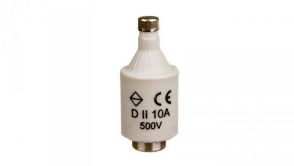 Wkładka bezpiecznikowa 10A DII gF 500V LE27F10