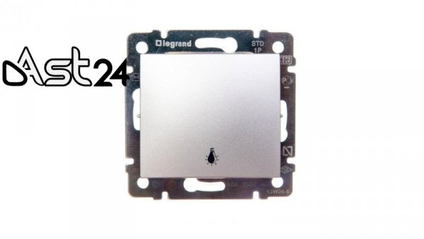 VALENA Przycisk /światło/ aluminium 770112