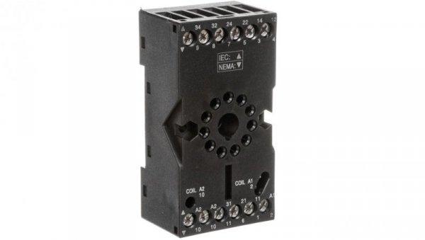 Gniazdo wtykowe do przekaźników R15 3P 12A 300V AC (można montować moduł czasowy COM3) GZP11 2613506