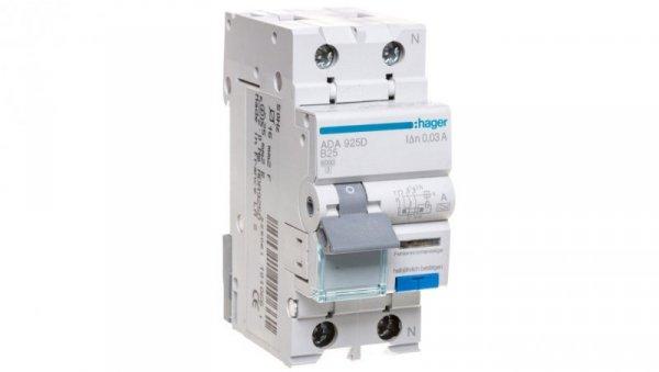 Wyłącznik różnicowo-nadprądowy 2P 25A B 0,03A typ A ADA925D