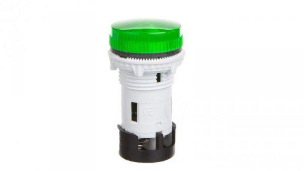 Lampka sygnalizacyjna /zintegrowana LED/ soczewka płaska karbowana 240 VAC zielona TT02X1 004770762