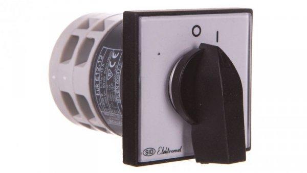 Łącznik krzywkowy 0-1 3P 12A IP65 Łuk E12-12 z płytką 921201
