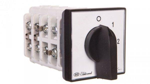 Łącznik krzywkowy 0-1-2 3P 16A IP65 z płytką Łuk 16-32 921611