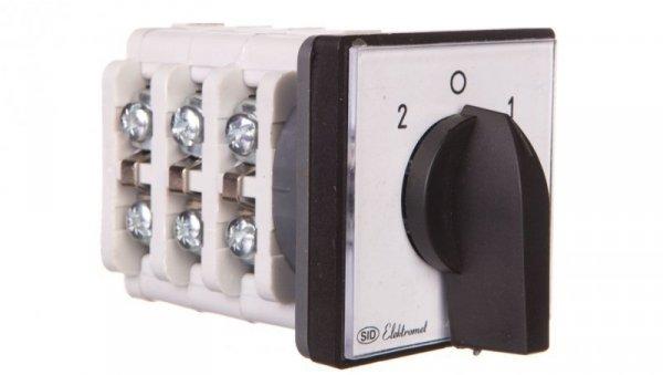 Łącznik krzywkowy 2-0-1 3P 40A IP65 z płytką Łuk 40-72 924072