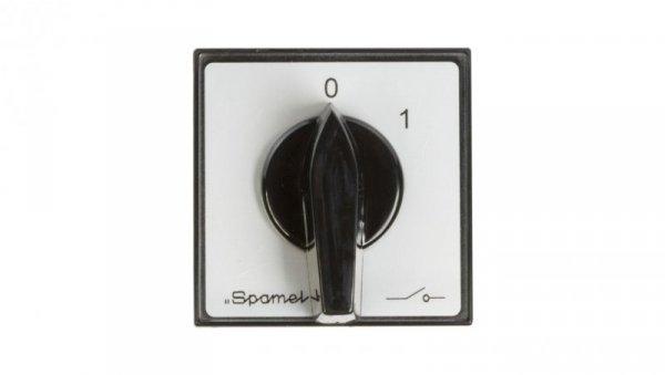 Łącznik krzywkowy 0-1 3P 40A do wbudowania IP65 LK40-2.8211/P03