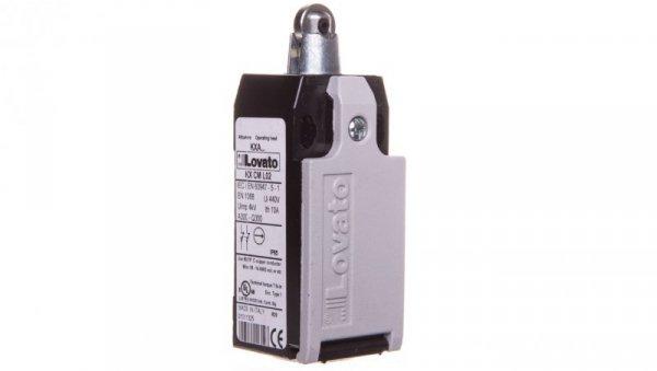 Wyłącznik krańcowy 2R wolnoprzełączający metal popychacz z rolką KMB2L02