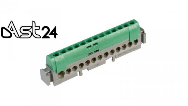 Listwa przyłączeniowa 13-otworów zielona IP2xZ13 004834