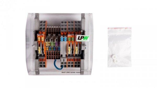 Listwa pomiarowa LPW 14-torowa 230V AC szeregowa 847-297/230-1001