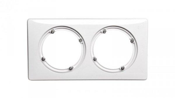 CELIANE Ramka biały podwójna IP44 069072