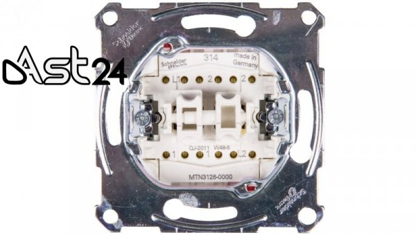 Merten Łącznik schodowy podwójny 10A 250V IP20 MTN3126-0000