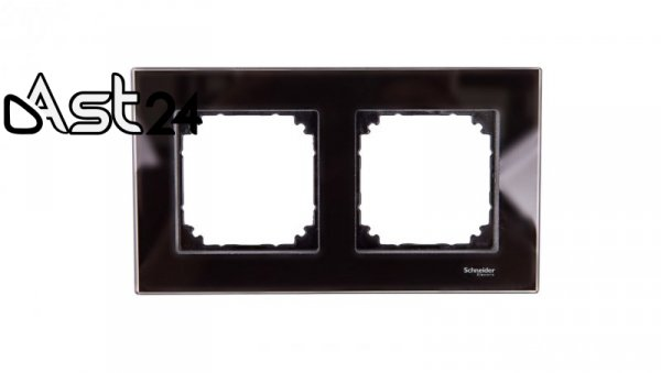 Merten M-Elegance Ramka podwójna szklana onyks czarny MTN404203