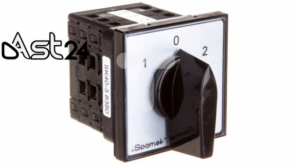 Łącznik krzywkowy sieć-agregat 3P 40A do wbudowania SK40-3.8380P03