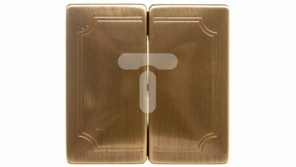 Merten System D Klawisz podwójny mosiądz antyk MTN412543