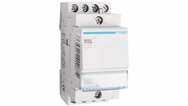 Stycznik modułowy 25A 4Z 0R 230V AC ESC425