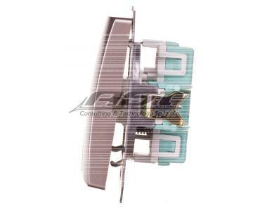 Simon Basic Przycisk podwójny zwierny satyna metalizowana BMP2.01/29