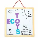 Tablica edukacyjna 3w1 magnetyczna kredowa literki Ecotoys