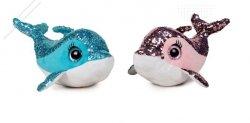 Maskotka pluszowa z cekinami Delfin - losowy wzór