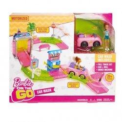Barbie On The Go Myjnia samochodowa zestaw + Lalka