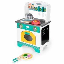 Drewniana kuchnia dla dzieci  + dodatki Ecotoys
