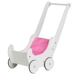 Drewniany wózek dla lalek Ecotoys