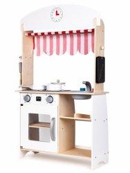Drewniana kuchnia sklep stragan +dodatki Ecotoys
