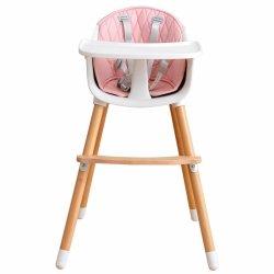 Drewniany  fotelik do karmienia 2w1 pink Ecotoys