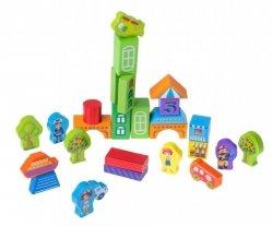 Klocki drewniane dla dzieci miasto2 100el