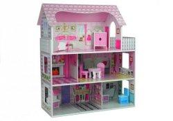 Drewniany domek dla lalek Villa Stefi + mebelki