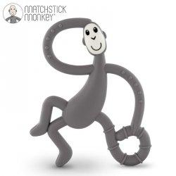 Terapeutyczny Gryzak Masujący ze Szczoteczką Matchstick Monkey Dancing Grey
