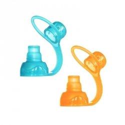 Uniwersalny ustnik silikonowy do saszetek pokarmowych ChooMee SoftSip 2 PACK Aqua/Orange